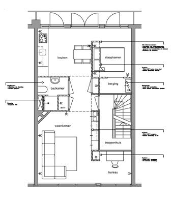 Bouwvergunning met architect verbouwen for Plattegrond op schaal tekenen